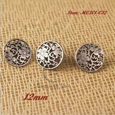 Silver Chinese Knot Shank Button Ball Shape Coat Shirt Blouse DIY 18mm 20pcs