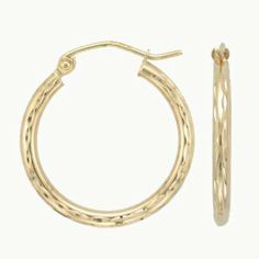 10k Yellow Gold Satin Finish Hoop Earrings 25mm Diameter SL Gold Imports. $94.56. Great Gift!. All purpose jewelry - casual, formal and party wear