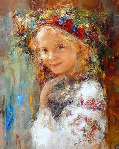 "Nichola Fedyaev (Ukrainian contemporary painter) - ""Girl and kitten"" - Oil on canvas Stone Painting, Painting & Drawing, Modern Art, Contemporary Art, Ukrainian Art, Impressionist Art, Russian Art, Insta Photo, Beautiful Paintings"