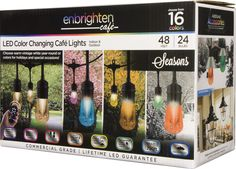 Now on sale in our store:Cafe Lights, Enbr... Check it out here! http://glowvatechvintage.com/products/cafe-lights-enbrighten-seasons-led-vintage-48ft-24-bulbs-black?utm_campaign=social_autopilot&utm_source=pin&utm_medium=pin