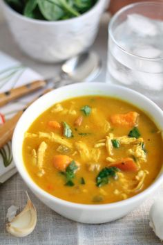 Creamy Coconut Curry Chicken Vegetable Soup