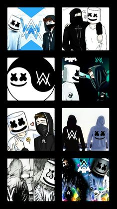Alan Walker, Walker Art, Animated Wallpapers For Mobile, Marshmello Wallpapers, Marshmello Dj, Music And The Brain, Step By Step Drawing, Messi, Edm