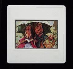 Beatrix Potter illustration of Peter and Mrs Rabbit. Bfg Roald Dahl, R L Stevenson, Raymond Briggs, Beatrix Potter Illustrations, Children's Book Characters, Quentin Blake, Lewis Carroll, Treasure Island, Through The Looking Glass