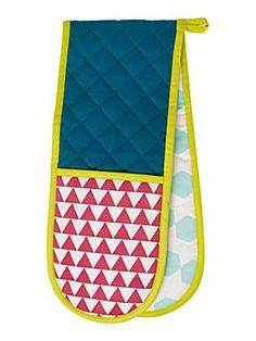 Bright abstracts double oven glove