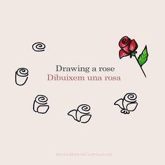 Happy St George Day! Do you wanna draw a #rose? / Feliç #SantJordi! Avui porto el taller virtual a Twitter i Instagram: Com dibuixar una #rosa. :)