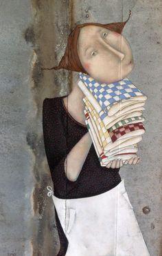 Magalie Bucher ILLUSTRATION Art Magique, Art Fantaisiste, Ceramic Painting, Children's Book Illustration, Whimsical Art, Doll Face, Figurative Art, Female Art, Art Images