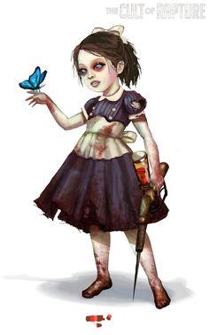 Present - Concept art of the same Little Sister after she is saved. (Elizabeth, 2009)