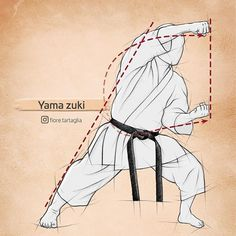 """Yama zuki aus meinem neuen Buch """"Die Karate-Essenz"""". . Die letzte Überprüfungsphase wird heute abgeschlossen danach gehen die Daten zum Drucker. Am 19. Juli genau 12 Monate nach Beginn der Arbeit wird das Buch mit 304 Seiten Inhalt und 381 Zeichnungen zur Verfügung stehen. . Nächste Woche werde ich eine Leseprobe für alle Interessenten anfertigen und hier mit einem Link zur Verfügung stellen. . #karate #shotokan #martialarts #training #blackbelt #kata #karate4life #kampfkunst #karateislife… Karate Training, Martial Arts Training, Self Defense Martial Arts, Martial Arts Workout, Shotokan Karate, Kyokushin Karate, Judo, Aikido, Jiu Jitsu"""