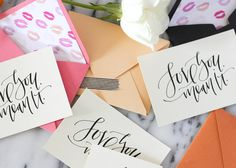 """Free Printable """"Love You. A Fabulous Fete: the atelier x a fabulous fete // printable valentines Printable Postcards, Free Poster Printables, Printable Labels, Saint Valentine, Valentines, Calligraphy Cards, Fun Mail, Paper Crafts, Diy Crafts"""