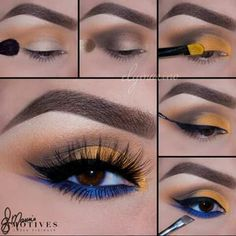 Paso a paso Gorgeous Makeup, Love Makeup, Makeup Inspo, Makeup Art, Makeup Inspiration, Beauty Makeup, Hair Makeup, Makeup Ideas, Beauty Nails