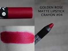MAKEUP ARENA: Golden Rose Matte Lipstick Crayon -no 04