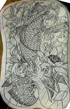 Carp Tattoo, Koi Fish Tattoo, Fish Tattoos, New Tattoos, Japanese Design, Japanese Art, Koy Fish, Phoenix Images, Asian Tattoos