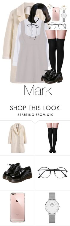 """NCT : Back to school \Mark\."" by vieen ❤ liked on Polyvore featuring WithChic and Daniel Wellington"