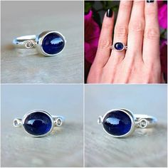Blue & White Sapphire Ring