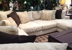 Spend some quality time with your family on this cozy sectional. | Houston, TX | Gallery Furniture |