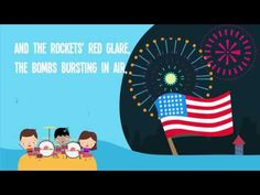 Patriotic USA songs for kids. These songs can be used during a mini unit on America, or during a patriotic holiday, such as of July (Independence Day), Preschool Music, Homeschool Kindergarten, Homeschooling, Music For Kids, Kids Songs, Star Spangled Banner Song, Patriotic Songs For Kids, Anthem Lyrics, Usa Songs