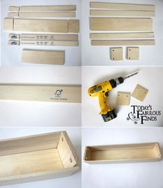 Today's Fabulous Finds: DIY Crate--from Paint Sticks (Tutorial)