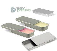 Empty Lip Balm Slide Tin Set With Labels Perfect to Hold DIY Lip Balm - .25 Oz 5pcs White Plastic Empty Makeup DIY Lip Balm Tube Lipstick Chapstick Holder 4g