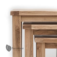 rustic oak nest of tables solid oak furniture free delivery furniture therapy baumhaus mobel oak nest