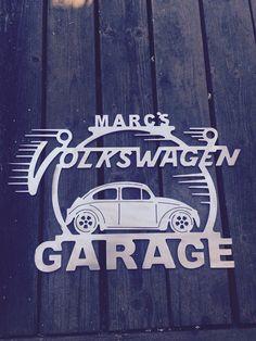 Personalized Custom Volkswagen sign Metal by moonlightmetaldesign