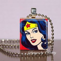 Wonder Woman Scrabble Necklace by DesignsbyChastity on Etsy, $6.00