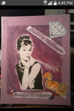 Audrey Hepburn Pic. Decor. - Instructions on How To Do This Craft... Go to the link for my FB page. located on my pinterest page here. -Anna