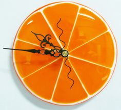 Fused Glass Clock by Stacy Owen. www.coppermstudio.com