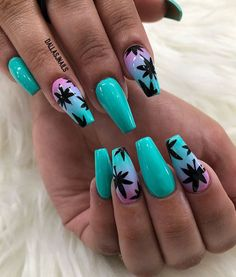Paradise nails @surnair16 Follow me fo more collections  Pinterest // @surnair16