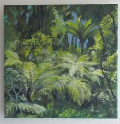 Arataki rainforest, NZ acrylic on canvas