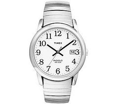 Timex Men's Silvertone Easy Reader Watch