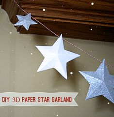 Make #DIY Paper Star #Garland for your #Holiday Decor @savedbyloves