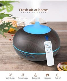 KBAYBO USB Air Humidifier Aroma Diffuser remote control 7 Colors Changing LED Lights cool mist maker Air Purifier for Home Ultrasonic Aromatherapy Diffuser, Aroma Diffuser, Natural Essential Oils, Essential Oil Diffuser, Air Humidifier, Air Purifier, Mists, Remote, Usb