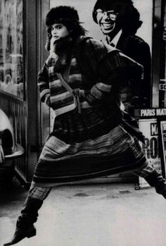 Kenzo's Fall/Winter 1982 campaign shot by Peter Lindbergh. Moving to Paris in the '60s, Kenzo Takada was one of the first Japanese designers to enter the international fashion arena. Very much a stranger in a strange land, Kenzo keenly adapted his outsider perspective to the aspirations and dreams of European fashion and by the end of the '70s he was selling those dreams to faithful followers around the world.  Journeying from one world to another, moving freely between and beyond, it is…