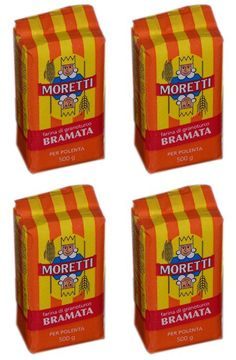 Moretti: 'BRAMATA Farina per polenta tradizionale' Italian Cornmeal Mush * 17.63 oz (500g) Packages (Pack of 4) * [ Italian Import ] *** Be sure to check out this awesome product.