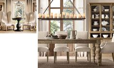 Idea for light style for dining room table