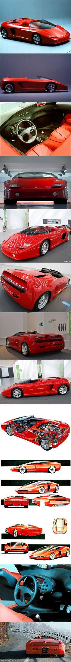 1989 Ferrari Mythos / Italy / Pininfarina / Lorenzo Ramaciotti / concept / red / Testarossa based