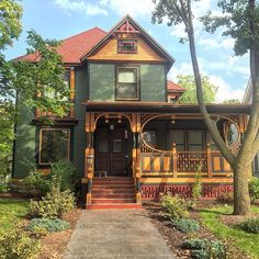 I was on my way out of Wisconsin when I remembered that runs a feature called I went back in search of this house, because it has one of my favorite standard-sized front porches ever. I Love House, Old And New, House Tours, Beautiful Homes, Victorian, Cabin, Baraboo Wisconsin, House Styles, Places