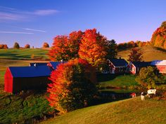 Beautiful Autumn Barn Photos - Fall Foliage Pictures - Country Living
