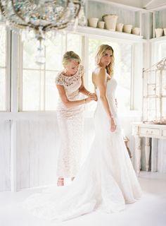 Wedding Dress: Olva By Blue By Enzoani - http://www.stylemepretty.com/portfolio/olva-by-blue-by-enzoani Photography: Bryce Covey Photography - http://www.stylemepretty.com/portfolio/bryce-covey-photography Read More on SMP: http://www.stylemepretty.com/2014/09/18/destination-glam-haiku-mill-wedding-by-bryce-covey-photography/