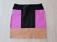 DIY Clothes DIY Refashion DIY Clothes Refashion: DIY Color block skirt
