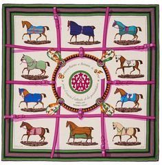 Hermes Couverture Shawl Fuchsia Cashmere GM Scarf Wrap New Auth