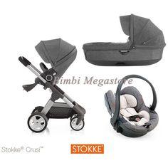 Stokke® Crusi Trio Izigo colore: black melange 0mesi #stokke #triostokke #crusitrio