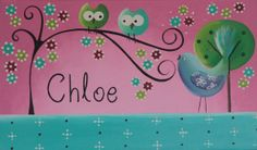 Pretty Personalised Name Canvas Painting   by ImpactArtStudioShop, $19.99