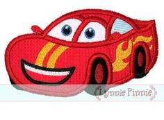 Embroidery Designs - Happy Race Car Applique 4x4 5x7 6x10 SVG - Welcome to Lynnie Pinnie.com! Instant download and free applique machine emb...