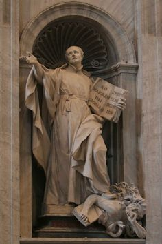 St. Ignatius Loyola sculpture - St. Peters - Rome, Italy - Where would the Jesuits be without him?