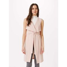 Product info Waterfall Sleeveless Jacket Get the layered look this season in our textured sleevless jacket with waterfall collar detail in a soft blush colour.…