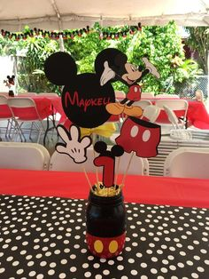 Mickey mouse ideas mickey mouse birthday party ideas photo 8 of mickey mouse birthday party ideas . Baby Mickey, Theme Mickey, Mickey 1st Birthdays, Fiesta Mickey Mouse, Mickey Mouse First Birthday, Mickey Mouse Clubhouse Birthday Party, Elmo Birthday, Birthday Ideas, Dinosaur Birthday