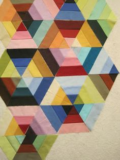 Tin Whistle: Not another hexagon (NAH) quilt