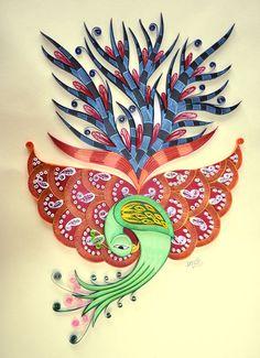 Paper Quilling - Bird on Behance - by: Prachi Malandkar