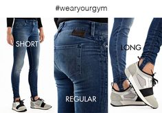 Wear your gym with Psyche Jeans by Latinò